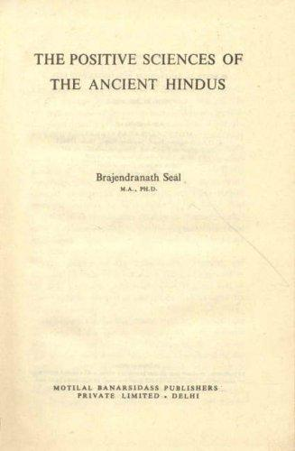 Download Positive Sciences of the Ancient Hindus