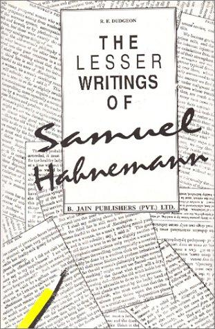 Download The Lesser Writings of Samuel Hahnemann