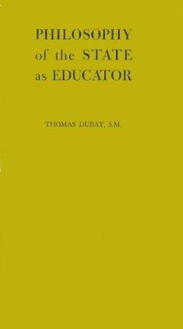 Download Philosophy of the state as educator