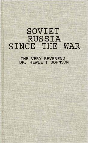 Download Soviet Russia since the war