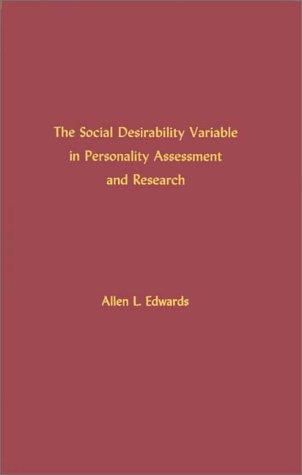 Download The social desirability variable in personality assessment and research