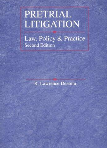 Download Pretrial Litigation