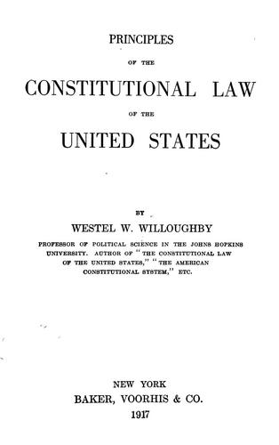 Download Principles of the constitutional law of the United States