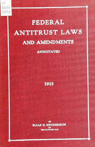 Download Federal antitrust laws