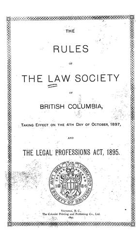 Download The rules of the Law Society of British Columbia
