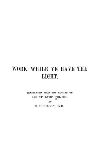 Download Work while ye have the light