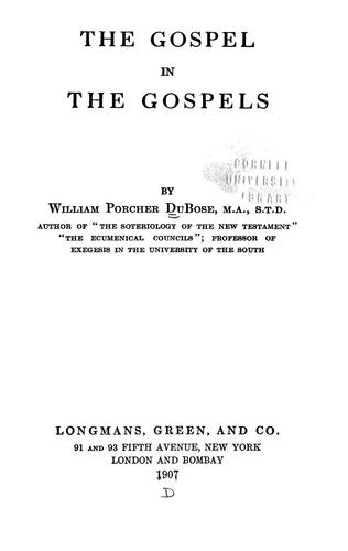 Download The gospel in the Gospels