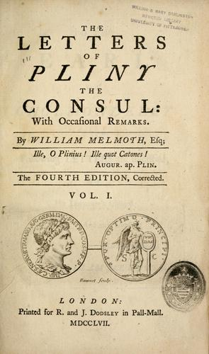 Download The letters of Pliny the consul