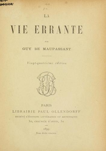 Download La vie errante.