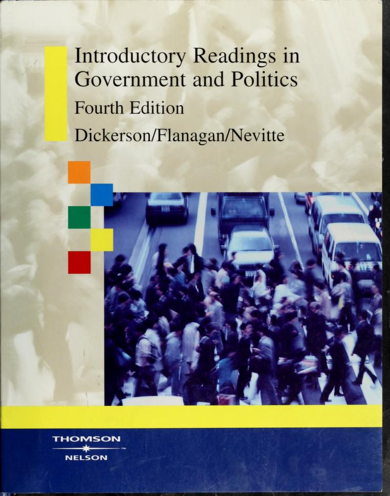 Introductory readings in government and politics by M. O. Dickerson, Flanagan, Thomas, Neil Nevitte
