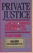 Private justice by Stuart Henry