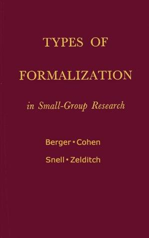 Types of formalization in small-group research